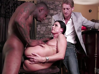 Slutty MILF India Summer cuckolds her husband with a black monster dick