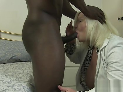 Old lady takes it in the ass by black cock