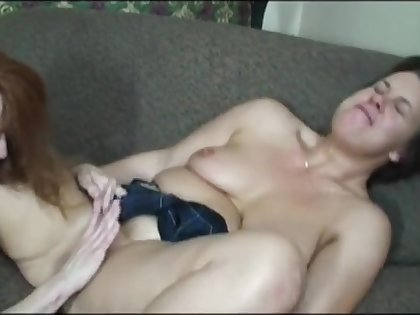 mature sapphist being skirt fucked with a strap on by her old hat modern