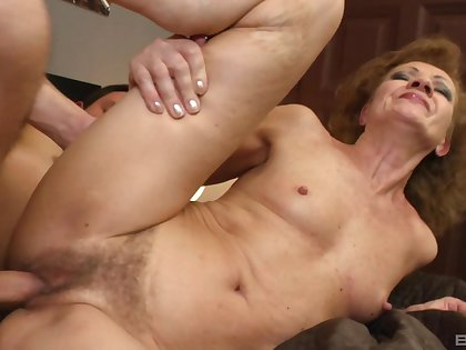 Mature with small tits, rough sex with slay rub elbows with nephew