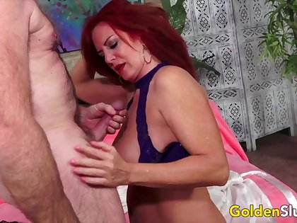 GoldenSlut - Older Ladies Show absent Their Cock Sucking Gift Compilation 11