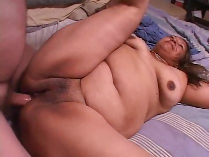 Extremely Beamy Light-complexioned Bbw Fucks Extremely Beamy Black Guy