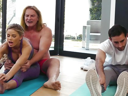 Yoga homework drives this MILF needy for the man's energized dong