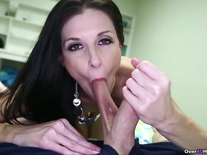 Addictive blowjob in POV scenes off out of one's mind India Summer