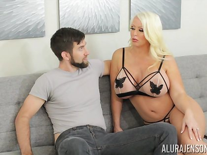 Alura is sex on feet increased by that tall MILF loves giving head