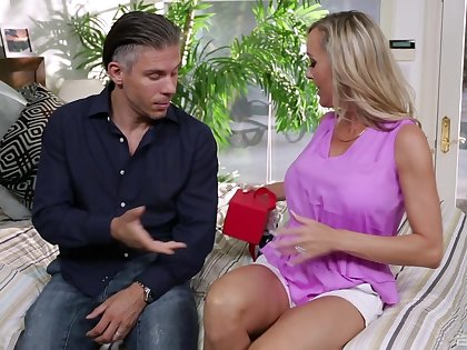 Adorable mature wife Cherie Deville moans at near passionate sexual intercourse