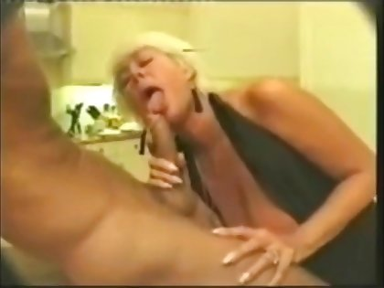 Superannuated mom giving a passionate blowjob to young cock and obtain cum in brashness